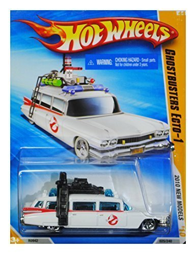 HOT WHEELS 2010 NEW MODELS 25 OF 44 GHOSTBUSTERS ECTO-1 WHITE WAGON by Hot Wheels - 1 Wheels-ecto Hot