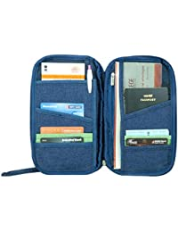 The House of Tyche Polyester Blue Passport Holder Wallet