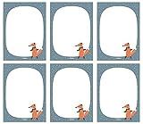 Notizblock 6er Set für Kinder: Herr Fuchs, DIN A6, 25 Blatt (Mitgebsel Kindergeburtstag, Mädchen od. Jungen)