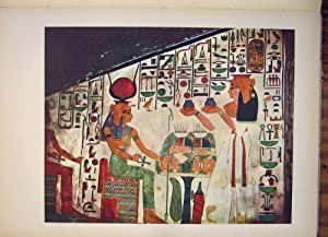 L'UNESCO de Quenn Nefertari Hathor de Tombe de l'Egypte de Peinture