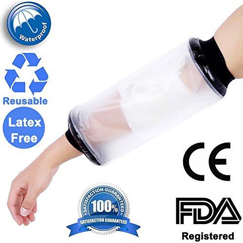 CE-geprüft PICC Line Schutzhülle für für Gipsbein Wunde Wasserdicht Cover für Dusche Erwachsene Arm Ellenbogen Arm wasserdicht gegossen und Verband Displayschutzfolie (Erwachsenen Hand Gegossen)