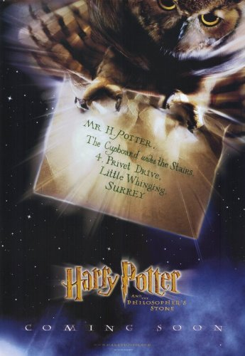Click for larger image of Harry Potter and the Sorcerer's Stone Poster Movie E 11 x 17 In - 28cm x 44cm Daniel Radcliffe Rupert Grint Emma Watson Robbie Coltrane Richard Harris Maggie Smith