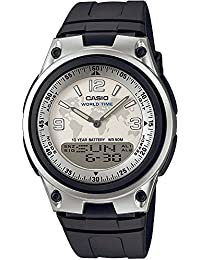 CASIO AW-80-7A2VEF - Reloj analógico digital de cuarzo con correa de resina para hombre, color negro