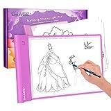 Tablette Lumineuse A4 à Piles Luminosité Réglable Précise pour Enfants, Table...