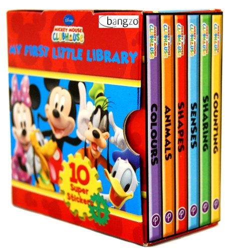 Disney Mickey Mouse Clubhouse Little Library 6 Books Collection Set (Colours,...