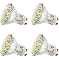 SEBSON® 4 x GU10 3,5W LED (Equivale de 30W - Frio Blanca 6.500K - 325lm - SMD LED - 110º Haz de luz - 230V AC)