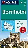 Bornholm: 4in1 Wanderkarte 1:50000 mit Aktiv Guide und Stadtplan inklusive Karte zur offline Verwendung in der KOMPASS-App. Fahrradfahren. (KOMPASS-Wanderkarten, Band 236)