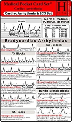 Cardiac Arrhythmia and ECG Set / Medical Pocket Card Set For Paramedics