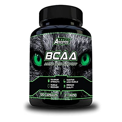 BCAA Tablets - 120 x 500mg BCAA Capsules - 2000mg Daily Serving - 2:1:1 Ratio of L Leucine, L Isoleucine & L Valine Create a Maximum Potency Amino Acid Formula - Branched Chain Amino Acids For Ulitimate Sports Performance, Muscle Recovery, Weightloss & St
