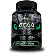 BCAA - 120 x 500mg BCAA Tablets - 2000mg BCAA Capsules Per Daily Serving - 2:1:1 Ratio of L Leucine, L Isoleucine & L Valine Create a Maximum Potency Amino Acid Formula - Branched Chain Amino Acids For Ultimate Sports Performance, Muscle Recovery, Weight Loss & Strength - Amino Acid Capsules Made In The UK - BCAA Suitable For Both Men & Women - Includes Free Workout Program