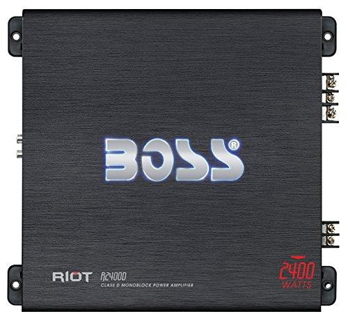 BOSS AUDIO R2400D Riot Serie Monoblock 2400 Watt Klasse D Verstärker Endstufe