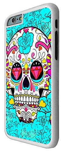 590-Sugar Skull Skulls Multi Tattoo Diamond Eye Coque iPhone 6Plus/iPhone 6Plus S 5.5Design Fashion Trend Case Back Cover Métal et Plastique-Blanc