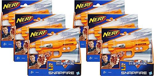 Kostüme Cosplay Anfänger Für Einfach (Nerf N-Strike Elite Snapfire Office War Starter Pack: 6x Snapfire mit 12)