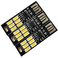 ToxTech Bright Light Super Mini portachiavi USB, della luce della lampada USB Luce portachiavi luminoso eccellente 6 LED USB con Smart Touch Electrodeless switch oscuramento per tastiera del computer portatile della luce