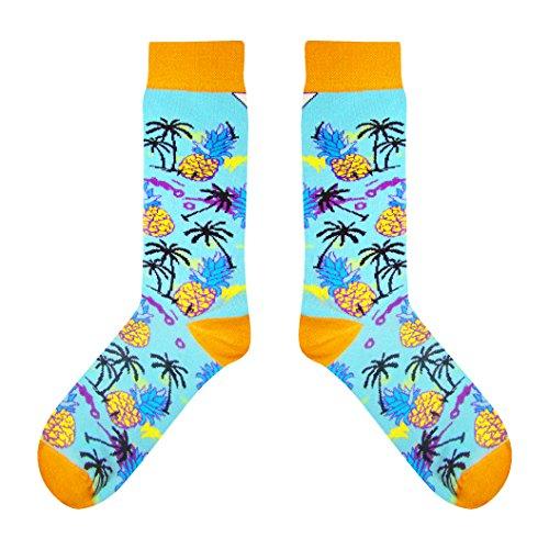 CUP OF SOX - Ananas / Palm - Socken in der Tasse - Herren und Damen Freizeit Socken (37-40) (Ananas-palme)
