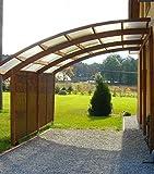Carport Ludlow Lean-to (3.21x5.6m) toit PVC