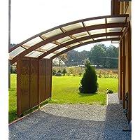 """Jardín Verde - Cochera-cobertizo """"Ludlow"""" con Techo de PVC (policloruro de vinilo). Dimensiones: 3,21 x 5,6 m"""