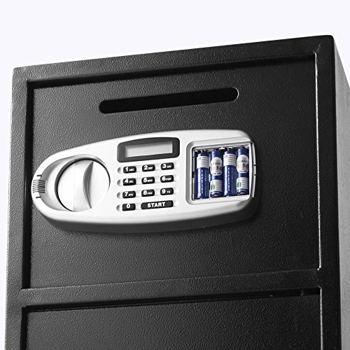 VEVOR Elektronischer Safe Tresor Doppeltüren Sicherheitsschrank 3MM Stahltür Möbeltresor Elektronikschloss Tresore für Geld Schmuck Waffen - 7