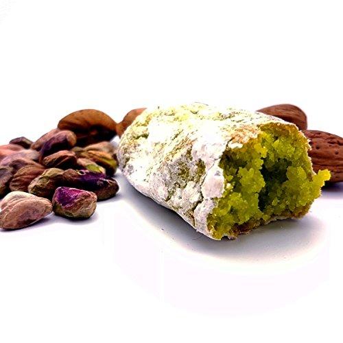 Paste di mandorla siciliane al pistacchio di sicilia, create all'ordine e confezionate una per una. box kg. 1. spedizione gratuita!