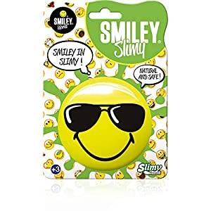 Joker Sl33430 - Espuma de Entretenimiento (8 Caras sonrientes) para coleccionar un Look no tóxico, Color Amarillo