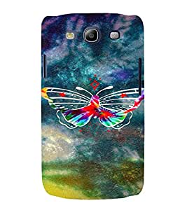 PrintVisa Colorful Butterfly 3D Hard Polycarbonate Designer Back Case Cover for Samsung Galaxy S3