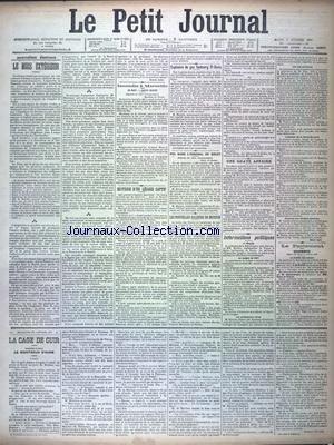 PETIT JOURNAL (LE) [No 12457] du 02/02/1897
