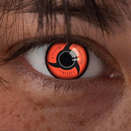 Halloween Naruto Kontaktlinsen (aricona Farblinsen Sharingan Kontaktlinsen rot zum Itachi Uchiha Cosplay Kostüm)