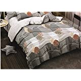 Ross Harley King Size 100% Cotton BrandedBed Sheet Set For Double Bed With 2 Pillow Covers By Mansarover - Designer Printed, Premium Quality, Soft & Breathable, Hypoallergenic, Natural & Health Friendly 3 Pc Luxury Bedding Combo Offer For Ho