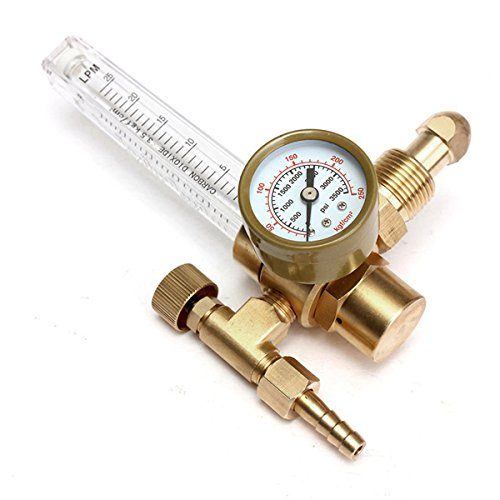 ExcLent Druckminderer Mig Tig Flow Meter Control Valve Regulator für Gauge Schweißen Gas CO2-Argon -