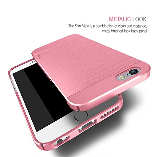 Obliq OBIP6PL-SMETA03 Slim Meta Case für Apple iPhone 6 Plus/6S Plus gold Meta Metallic Pink