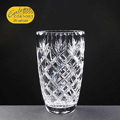 Earle, 19,05 (7,5 cm-Vaso A forma di barile, in cristallo al piombo tagliato un regalo perfetto per un'occasione speciale