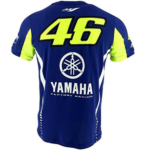 Vr46 Herren Valentino Rossi T Shirt Yamaha 2017 Blue L Heisesteff De