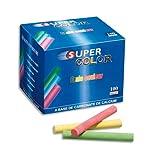 JPC Super Color Anti-Dust Chalks Box of 100 Assorted Colours