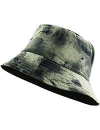 95136563fc0 Itzu Unisex Bucket Hat Reversible Denim Blend Print in Blue Grey