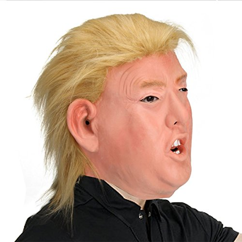 TK Gruppe Timo Klingler Donald Trump Maske Latex - Fasching Karneval Maske Poltiker, Perücke aus Latex für Herren und Damen - Karneval Kostüme Gruppen
