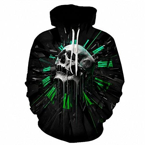 Moletom 3D Print Color Blocks Men Hoodies With Hat Thin Tops Harajuku Graphic Casual Sweatshirts Hoodies Plus Size L