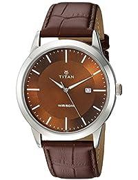 Titan Analog Brown Dial Men's Watch-NK1584SL04