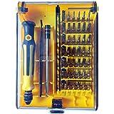 Kit Tournevis Aimanté, 45 en 1 avec 42 Embouts Réparation d'Outils pour iPhone, Téléphones, Tablettes, PC MacBook, DVD, TV et d'Autres Appareils Electroniques Portables