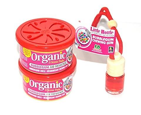 D l & 1 2 trio la duftsorte parfum bubble-gum kaugummiduft. 2 x 1 organic scent duftdose little bottle duftflakon désodorisant