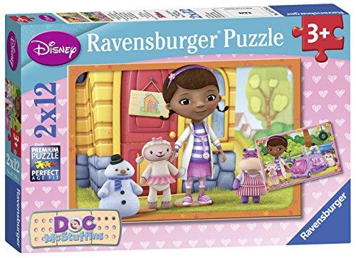 Ravensburger - 07576 - Puzzle Enfant Classique - Docteur La Peluche- 2 X 12 Pièces