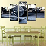 mmwin Wandkunst Modulare HD Gedruckt Poster Leinwand 5 Panel Sport Hantel Bilder Dekoration Moderne...