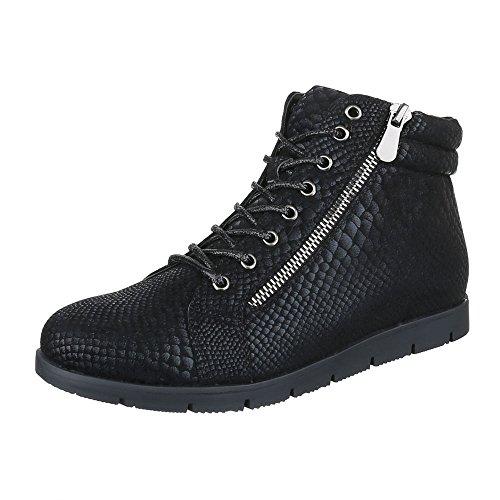 Chelsea Boots Damen Schuhe Chelsea Boots Moderne Reißverschluss Ital-Design Stiefeletten Schwarz