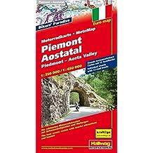 Piemont Motorradkarte 1 : 650.000: 15 Motorradtouren, Unterkünfte, Sehenswürdigkeiten (Hallwag Freizeitkarten)