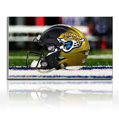 Acryl Super Bowl NFL Jacksonville Jaguars Football Logo Sport Artist Landscape Poster Ölgemälde Giclée-Leinwand Baumwolle Drucke Bild Wandkunst Acryl Kunst Heimdekoration Geschenk 32x48inch frameless (Jacksonville Jaguars Logo-poster)