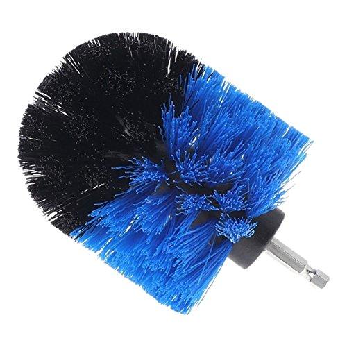Devekop bohrmaschine Bürstenaufsatz - 3.5inch,Power Scrubbing Auto Bürste für Auto, Teppich, Badezimmer, Holzboden, Waschküche exc(Blau)