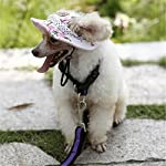 Minkoll Dog Baseball Cap, Puppy Chihuahua Striped Sun Hat Small Pet Dog Cat(S,Blue) 8