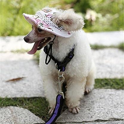 Minkoll Dog Baseball Cap, Puppy Chihuahua Striped Sun Hat Small Pet Dog Cat(S,Blue) 4