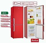 Amica KGC 15910 FR Kühl-Gefrier-Kombination Feuerrot A++ 297L Kühl-/Gefrierkombination / ColourFresh Line / 185,5 cm hoch