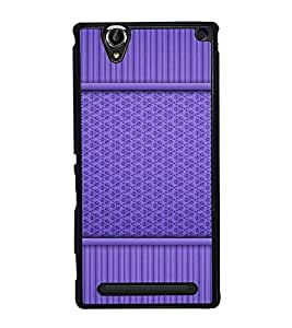Fuson Premium 2D Back Case Cover Blue pattern With grey Background Degined For Sony Xperia T2 Ultra::Sony Xperia T2 Ultra Dual