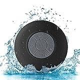Cassa minispeaker altoparlante waterproof AXELENS - Con Bluetooth e microfono - Con ventosa per attaccarla a tutti i tipi di superfici - Rispondi alle chiamate e ascolta la tua musica sotto la doccia! - NERO